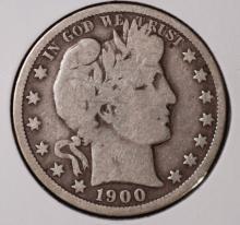 1900-O Barber Half Dollar- VG
