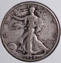 1934 Walking Liberty Half Dollar - VF
