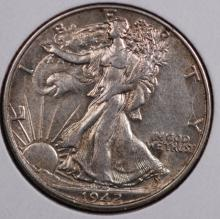 1942 Walking Liberty Half Dollar- AU