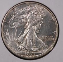 1943 Walking Liberty Half Dollar- AU
