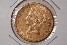 1906-S $10 Gold Liberty Eagle - XF