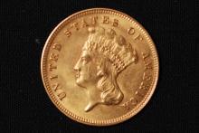 1878 $3 Gold Indian Princess - AU