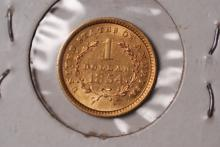 1854 (ty1) Liberty Gold $1 Coin - XF Details