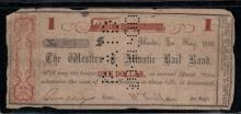 1862 Western & Atlantic $1 Note - VG
