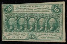 1862 First Issue 50c Postage Currency Fractional