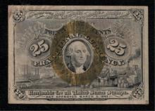 1863 2nd Issue 25c Fractional Note