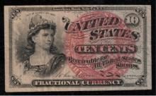 1863 4th Issue 10c Fractional Note