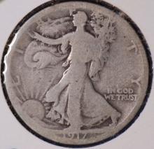 1917-S Walking Liberty Half Dollar - G
