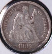 1883 Seated Liberty Dime - VF