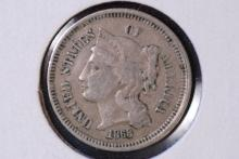 1868 (cn) Three Cent Piece - VF