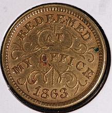 1863 Civil War Storecard -Troy New York