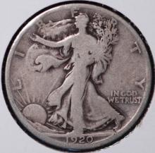 1920-D Walking Liberty Half Dollar - F