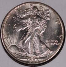 1934 Walking Liberty Half Dollar - CH BU