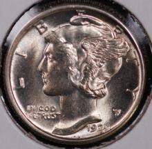 1929 Mercury Silver Dime - Gem BU