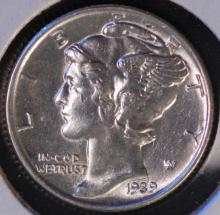 1939 Mercury Silver Dime - UNC