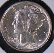 1942 Mercury Silver Dime - UNC