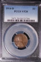 1914-D Lincoln Cent - PCGS VF20
