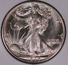 1940-S Walking Liberty Half Dollar- UNC