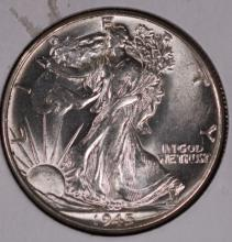 1945 Walking Liberty Half Dollar - CH BU