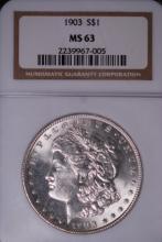 1903 Morgan Silver Dollar- NGC MS63