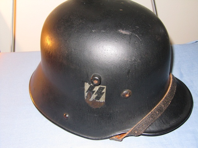 "German WWII ""SS"" LAH Double Decal Helmet"