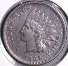 1864-L Indian Head Cent - XF