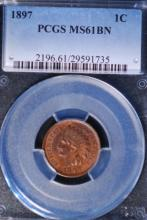 1897 Indian Head Cent - PCGS MS61 BN