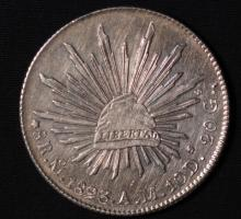 1893 Mo AM Mexico Silver 8 Reales-AU Details