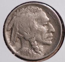 1914-D Buffalo Nickel - XF