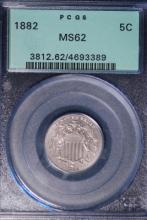1882 Shield Nickel - PCGS MS62