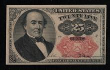 1874 Fifth Issue 25c Fractional Note - XF Details