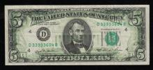 1981 $5 Full Back to Face Offset Note-XF
