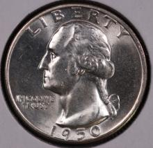 1950-D Washington Silver Quarter - CH BU