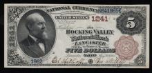 1885 $5 Nat'l Currency Note-Lancaster, OH