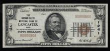 1929 (ty1) $50 Nat'l Currency Note-Lancaster, OH