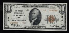1929 (ty2) $10 Nat'l Currency Note-Lancaster, OH