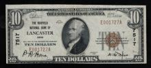 1929(ty1) $10 Nat'l Bank Note - Lancaster, OH