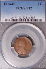 1914-D Lincoln Cent - PCGS F12