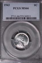 1943 (WWII) Lincoln Cent - PCGS MS66
