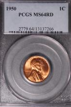 1950 Lincoln Wheat Cent - NGC MS64 RD