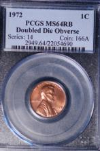 1972 Lincoln DDO Cent - PCGS MS64RB
