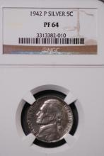 1942-P Silver War Nickel  - NGC PF64