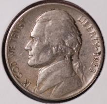 1938 D&S Jefferson Nickel Lot - F