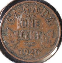 1920 Canada 1 Cent Piece - VG