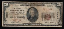 1929 $20 Nat'l Bank Note - Indianapolis, IN