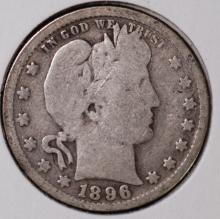 1896 Barber Quarter - G