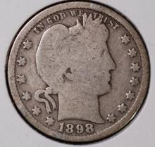 1898 Barber Quarter - G