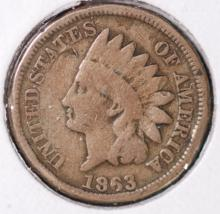 1863 Indian Head Cent - F