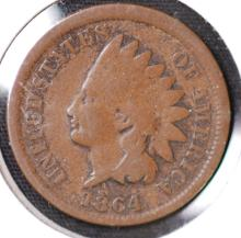 1864 Indian Head Cent - F