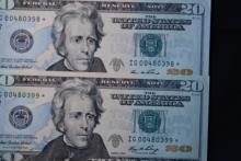 2006 $20 FRN Consecutive Star Note Lot